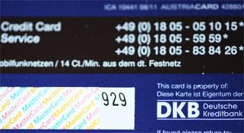 Kartenpruefnummer CVC CVC2